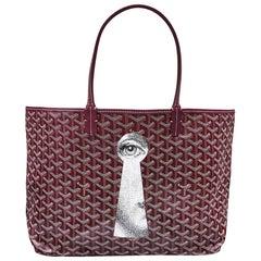 Goyard Customized Bordeaux 'Fornasetti Eye' Monogram St Louis PM Bag