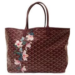 """Goyard Customized Bordeaux 'Hibiscus Flowers""""' Monogram St Louis Bag"""