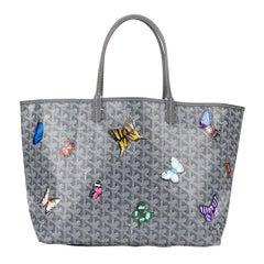 Goyard Customized Grey 'Butterflies' Monogram St Louis PM Bag