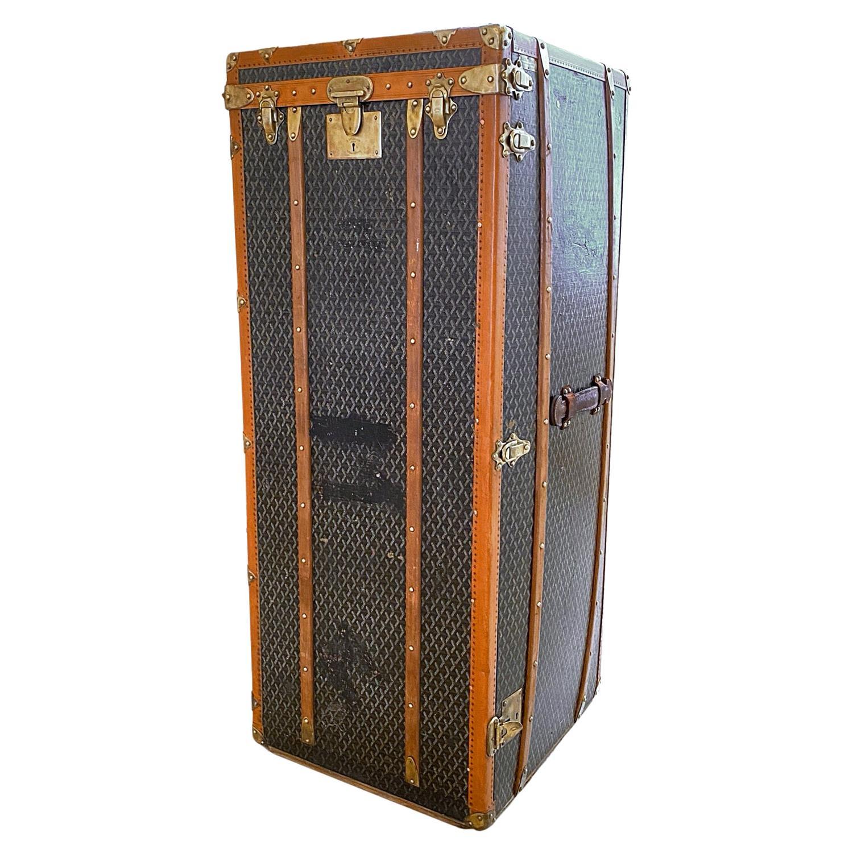 Goyard Goyardine Steamer Wardrobe Trunk, 1912, France