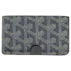 Goyard Grey Canvas Goyardine Card Holder