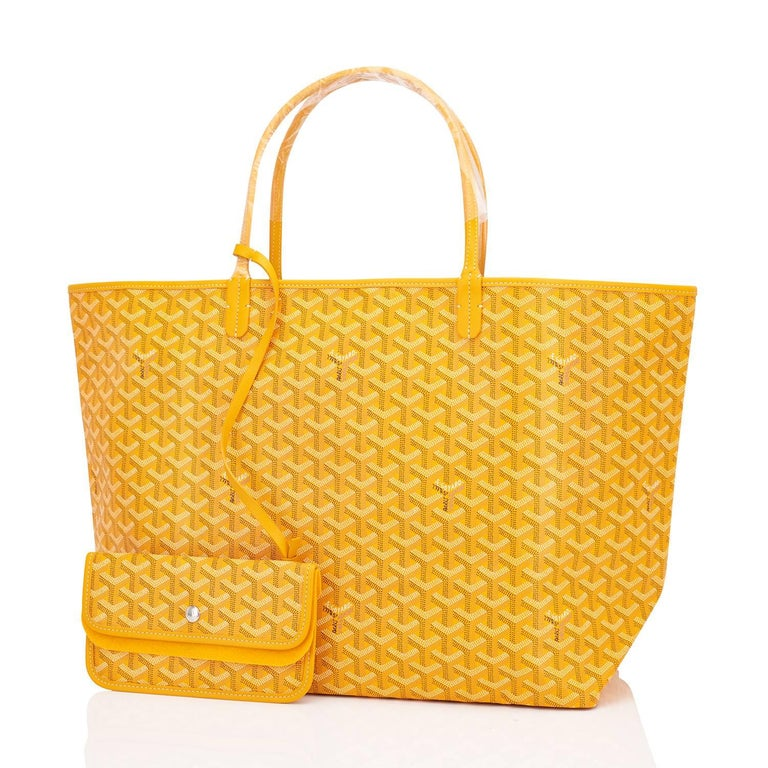 Goyard Jaune Yellow St Louis GM Chevron Tote Bag Celeb Fave  Brand New in Box. Store Fresh. Pristine Condition (with plastic on handles)  Perfect gift! Comes with yellow Goyard sleeper and inner organizational pochette.  This is the famous Goyard