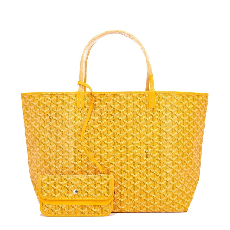 Goyard Jaune Yellow St Louis GM Chevron Tote Bag In New Condition For Sale In New York, NY