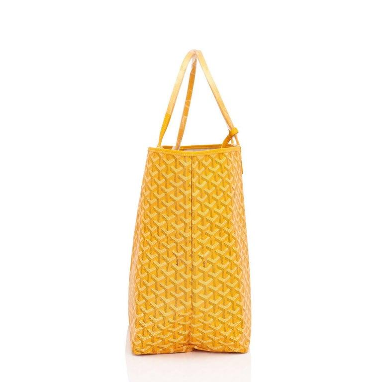 Goyard Jaune Yellow St Louis GM Chevron Tote Bag For Sale 1