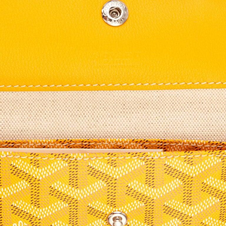 Goyard Jaune Yellow St Louis GM Chevron Tote Bag For Sale 2