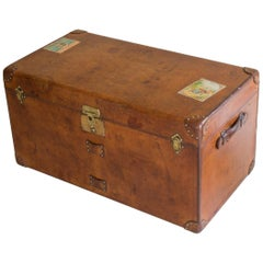 Goyard Leather Steamer Trunk, circa 1910