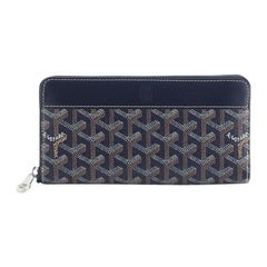 Goyard Matignon Zip-Around Wallet Coated Canvas with Leather