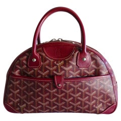Goyard Monogram Red Canvas St. Jeanne PM Bowling Bag