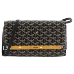 Goyard Monte Carlo Clutch with Strap Coated Canvas PM