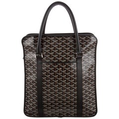 Goyard NEW Brown Monogram Canvas Travel Business Briefcase Top Handle Tote Bag