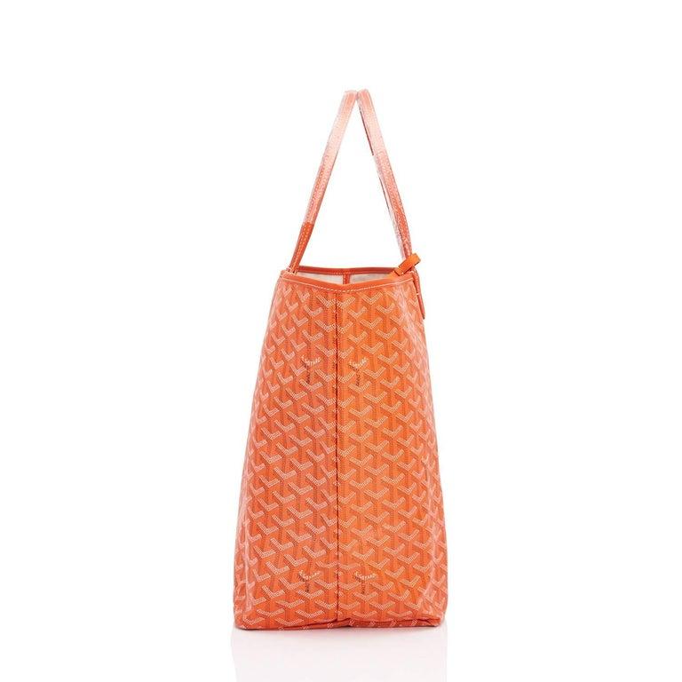 Goyard Orange St Louis GM Chevron Tote Bag  1