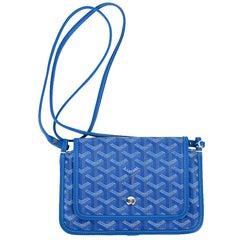 Goyard Plumet Bag Clutch Crossbody Wallet Blue Coated Canvas New