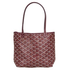 Goyard Red and Bordeaux Saint Louis Jr. tote bag