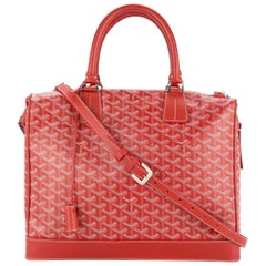 Goyard Red Monogram Canvas Travel Men's Women Carryall Duffle Weekender Tote Bag