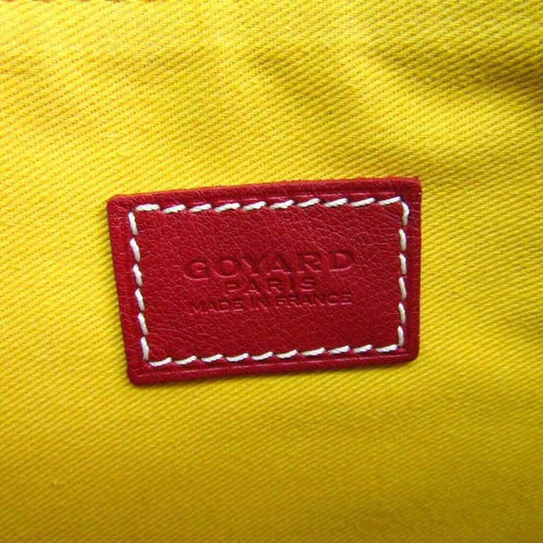 Goyard Red Monogram Canvas Zip Laptop Envelope Travel Business Clutch Bag in Box For Sale 2