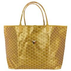 Goyard Saint Louis Gold Metallic GM Limited Edition 2021 Tote Bag New w/Tag