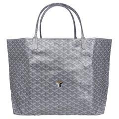 Goyard Saint Louis Silver Metallic GM Limited Edition 2021 Tote Bag New w/Tag