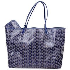 Goyard St. Louis GM Blue and multicolor Tote