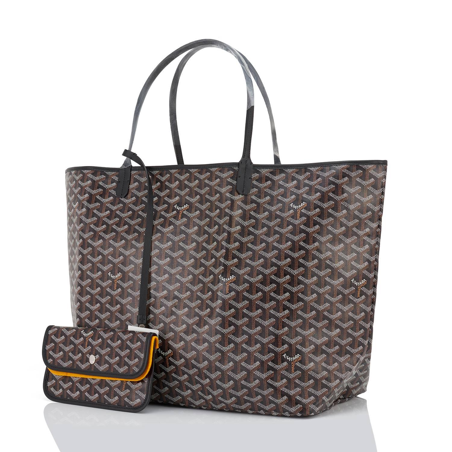 skate shoes wide varieties cheap for discount Goyard St Louis GM Tote Black Chevron Bag Chic For Sale at 1stdibs