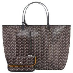 Goyard St Louis GM Tote Black Chevron Bag Chic