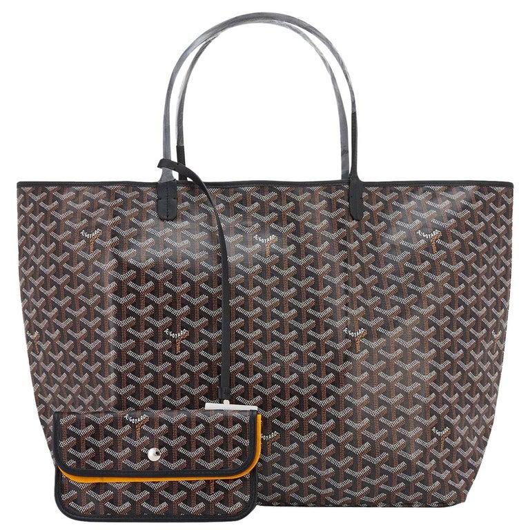Goyard St Louis GM Tote Black Chevron Bag Chic For Sale