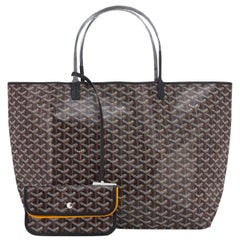 Goyard St Louis GM Tote Black Chevron Bag Chic