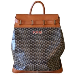 Goyard Steamer Bag in Canvas and Leather