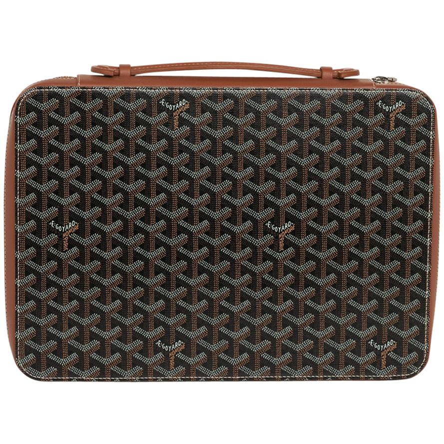 Goyard Universal Companion Portfolio / Briefcase Black / Brown New