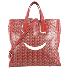 Goyard Voltaire Convertible Tote Painted Coated Canvas