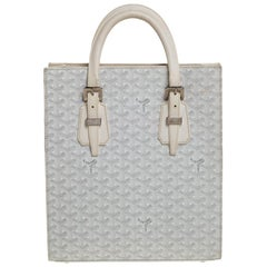 Goyard White Goyardine Coated Canvas and Leather Comores PM Tote