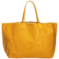 Goyard Yellow Coated Canvas Fabric Saint Louis GM France w/ Pouch
