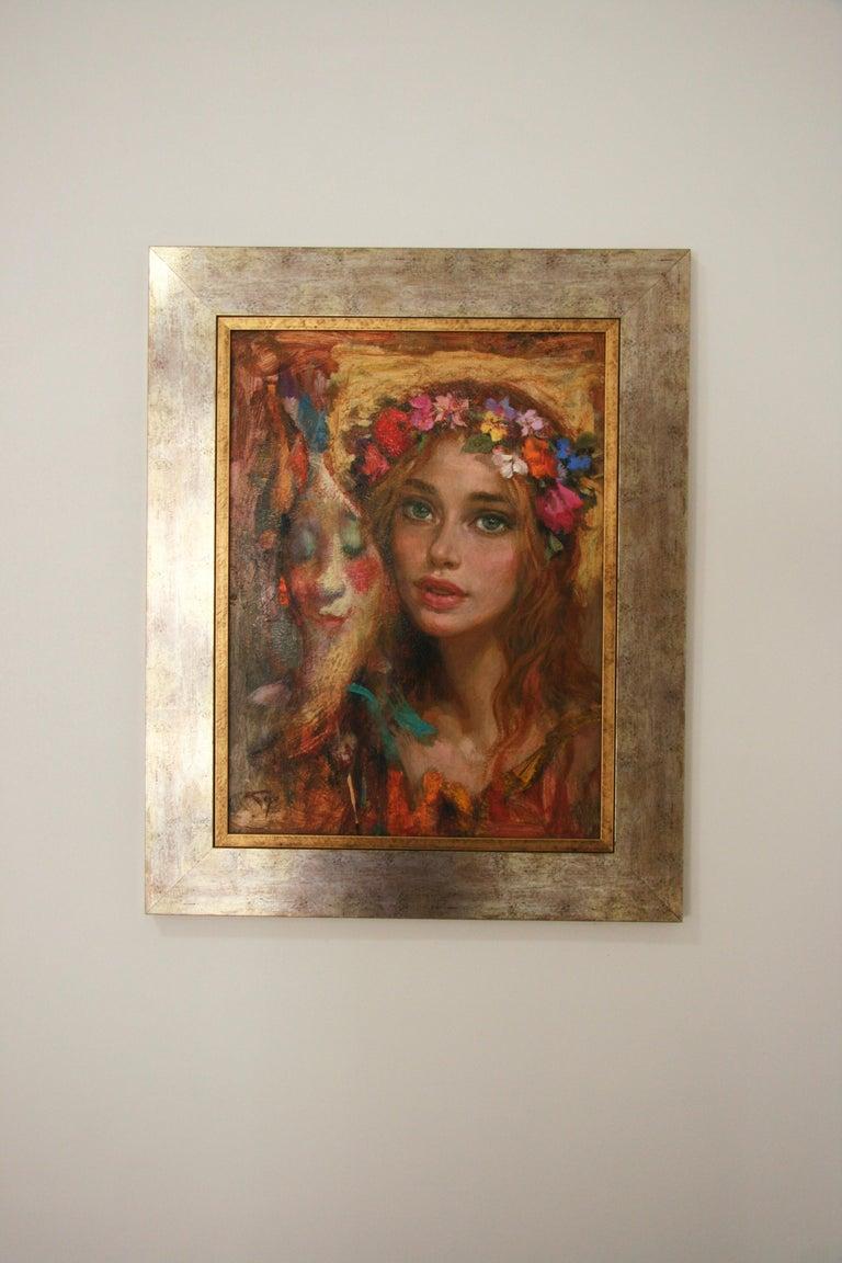 LUNA DE CARNAVAL GOYO DOMINQUEZ SPANICH CONTEMORARY ARTIST - Painting by Goyo Dominguez