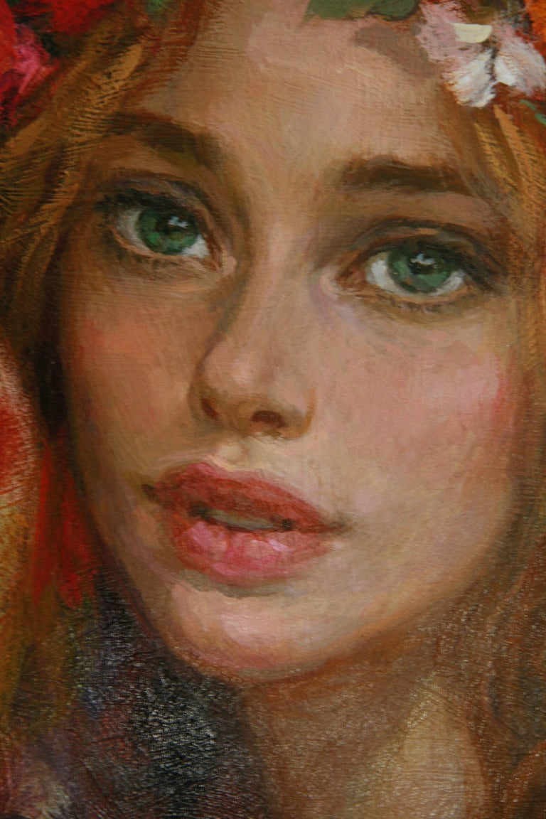 LUNA DE CARNAVAL GOYO DOMINQUEZ SPANICH CONTEMORARY ARTIST - Realist Painting by Goyo Dominguez