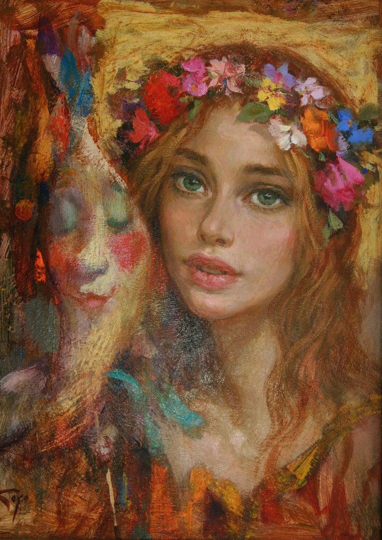 Goyo Dominguez Portrait Painting - LUNA DE CARNAVAL GOYO DOMINQUEZ SPANICH CONTEMORARY ARTIST