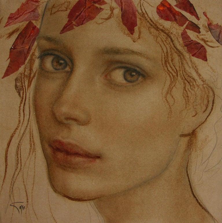 Goyo Dominguez Portrait Painting - MIRADA GOYO DOMINQUEZ contemporary Spanish artist Realist Romantic
