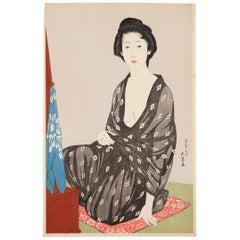 Goyo Hashiguchi, Original Japanese Woodblock Print, Beauty, Shin Hanga, Ukiyo-e
