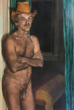 Norman, Oil Painting, Canvas, Figurative Art, Portrait, Nude, Signed
