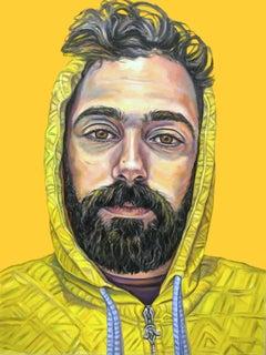 Samer, Oil Painting, Wood Panel, Portrait, Signed