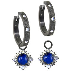 Grace Lapis Silver Earring Charms