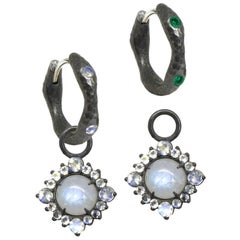 Grace Moonstone Silver Earring Charms