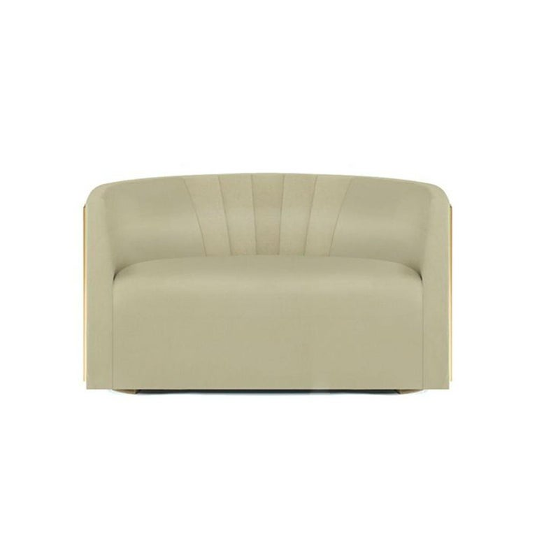 Mid-Century Modern Grace Sofa in Light Pink For Sale