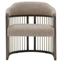 Grace Urban Armchair with Lacquered Structure and Brass Details