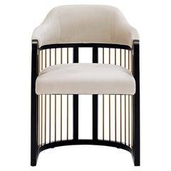 Grace Urban Dining Chair in Beige Velvet