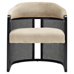 GRACE Vintage Armchair with Cane Structure