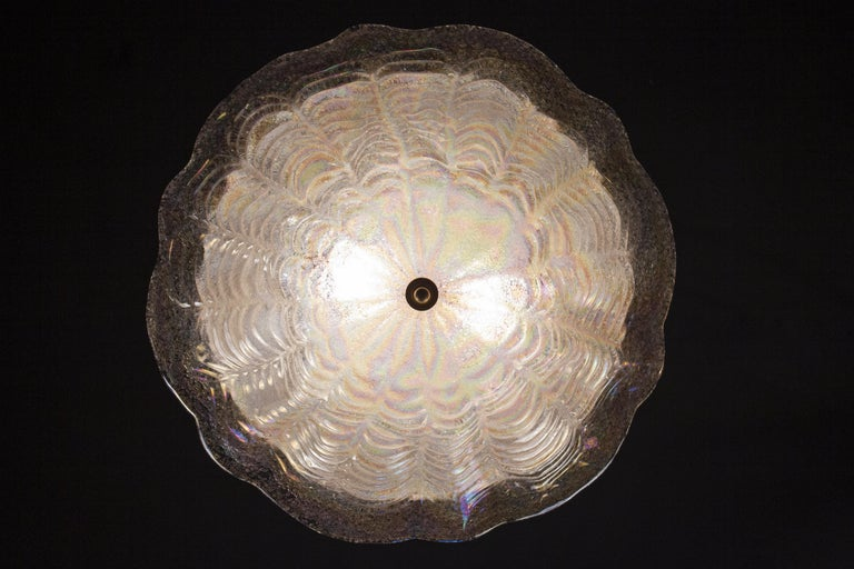 Graceful Italian Iridescent Murano Glass Ceiling Lights, 1960 For Sale 6