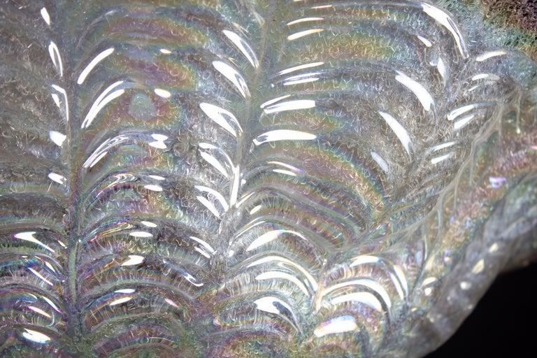 Graceful Italian Iridescent Murano Glass Ceiling Lights, 1960 For Sale 1