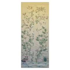Gracie Chinoiserie Bamboo Grove Pattern Printed Linen Fabric