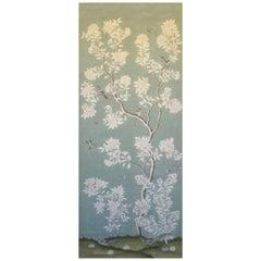 Gracie Chinoiserie Hampton Garden Pattern Printed Linen Fabric