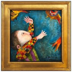 Graciela Boulanger Original Oil Painting On Canvas Child Portrait Signed Artwork
