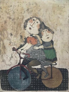 After School, Original Lithograph, Graciela Boulanger